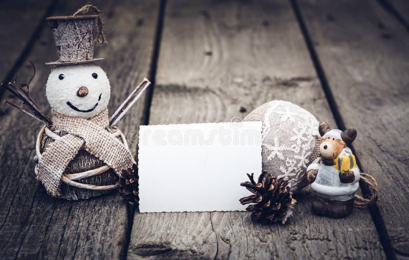 vintage Christmas decorations stock image