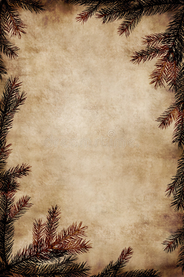 Vintage Christmas Frame royalty free stock photography