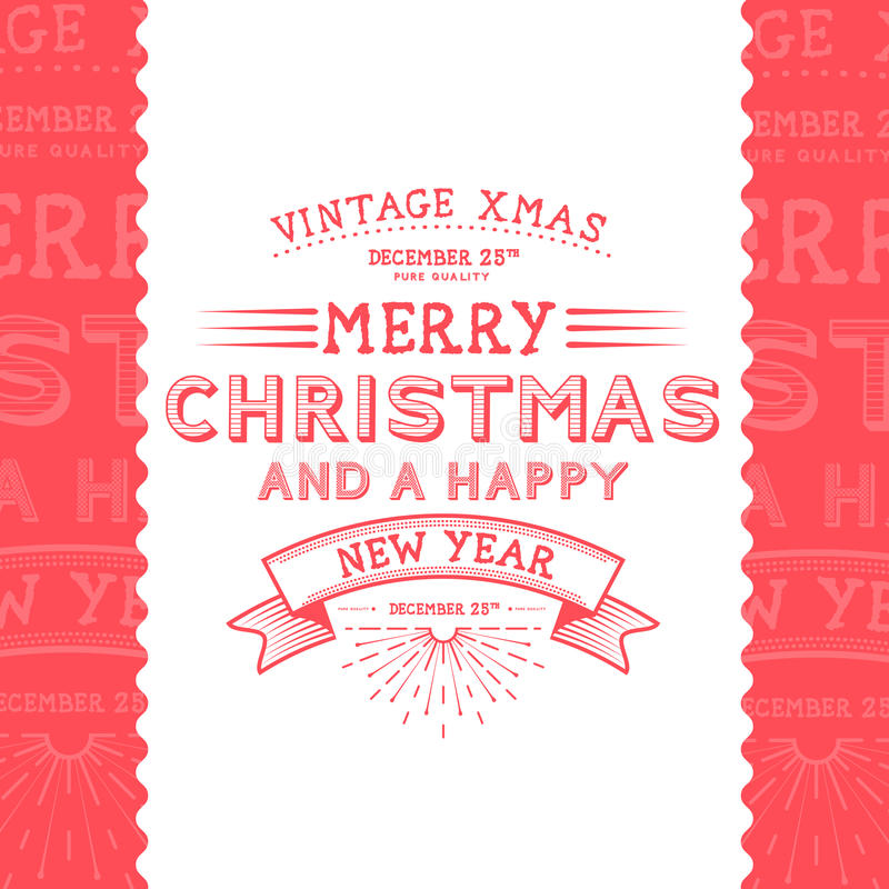 Vintage Christmas Message. Christmas Illustration stock illustration