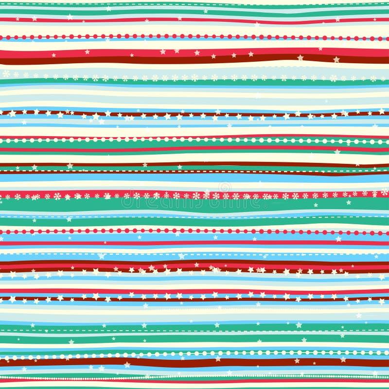 Vintage Christmas pattern. Vector Illustration of Vintage Christmas pattern stock illustration