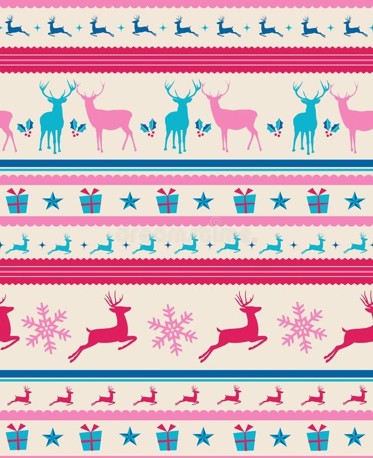 Free Vintage Christmas Reindeers Seamless Pattern Backg Royalty Free Stock Photos - 33756678