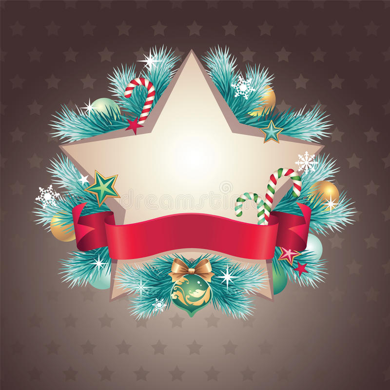 Download Vintage Christmas Star Shape Banner Stock Vector - Illustration: 27973675