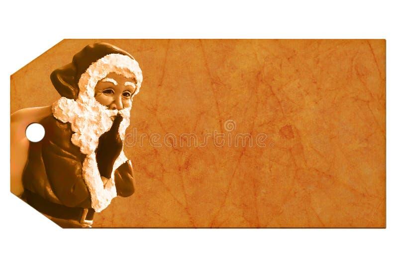 Vintage Christmas tag stock photo