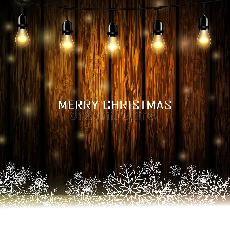 Download Vintage Christmas Wood Background Stock Vector