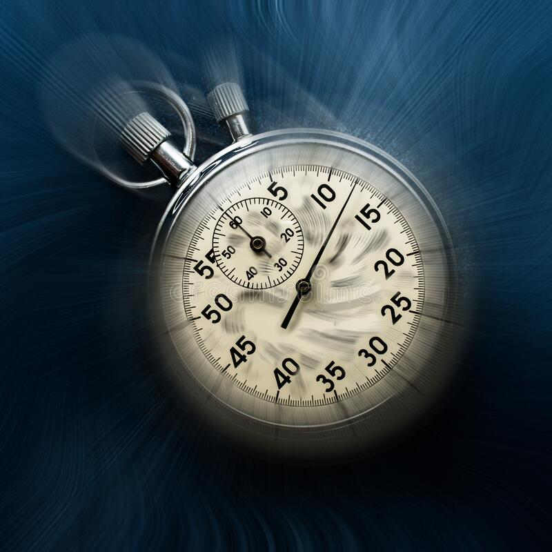Vintage chronometer moving time concept royalty free stock photo