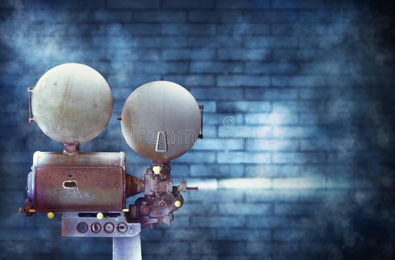 Vintage cinema film projector stock photography