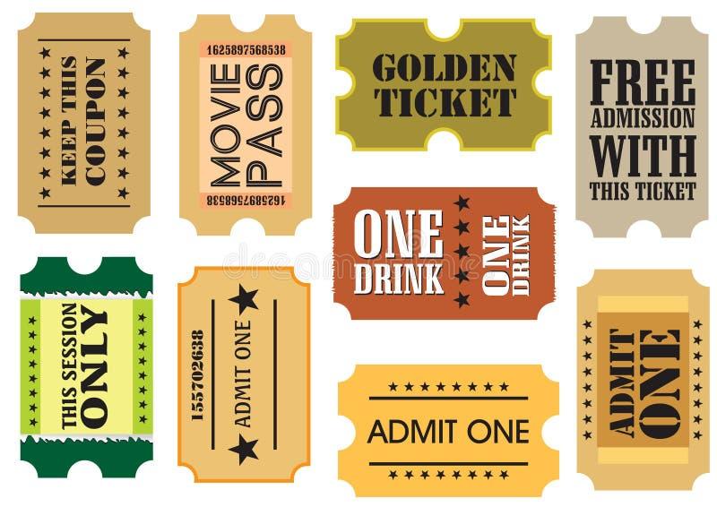 Vintage Cinema Tickets Royalty Free Stock Image