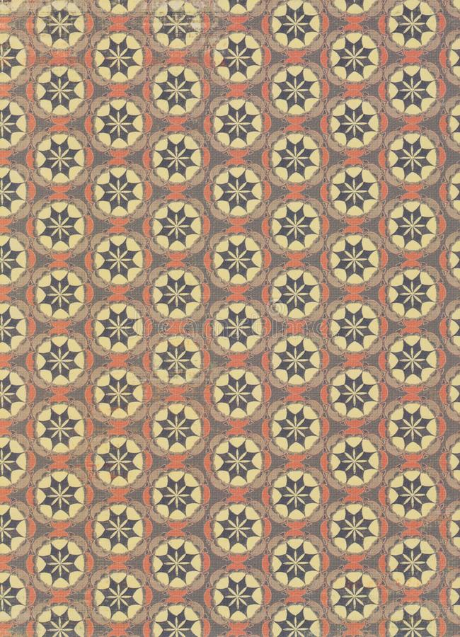 Vintage circles pattern. A vintage circles pattern in soft shades of brown and cream royalty free stock photo