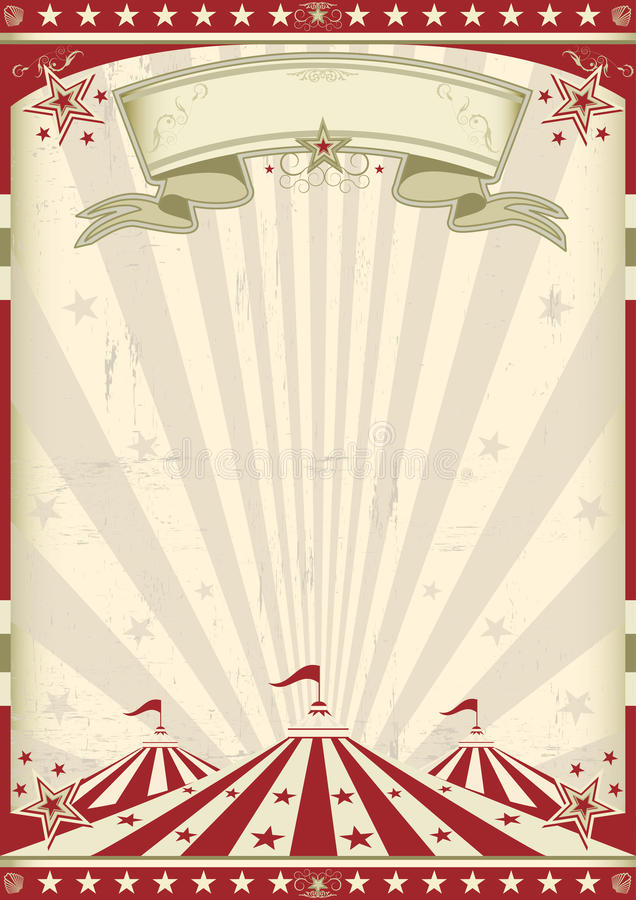 Vintage circus vector illustration
