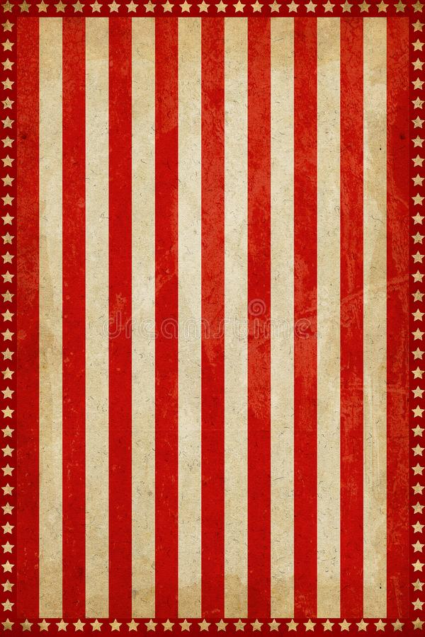 Free Vintage Circus Carnival Background With Strips And Stars Stock Images - 135055104