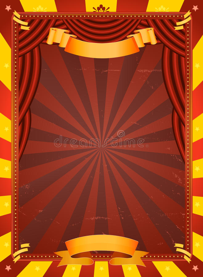 Download Vintage Circus Poster stock vector. Image of celebration - 25256701