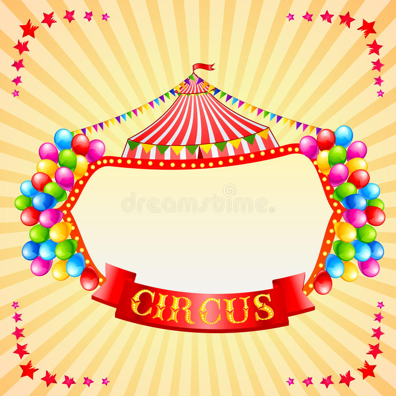 Vintage Circus Poster stock illustration