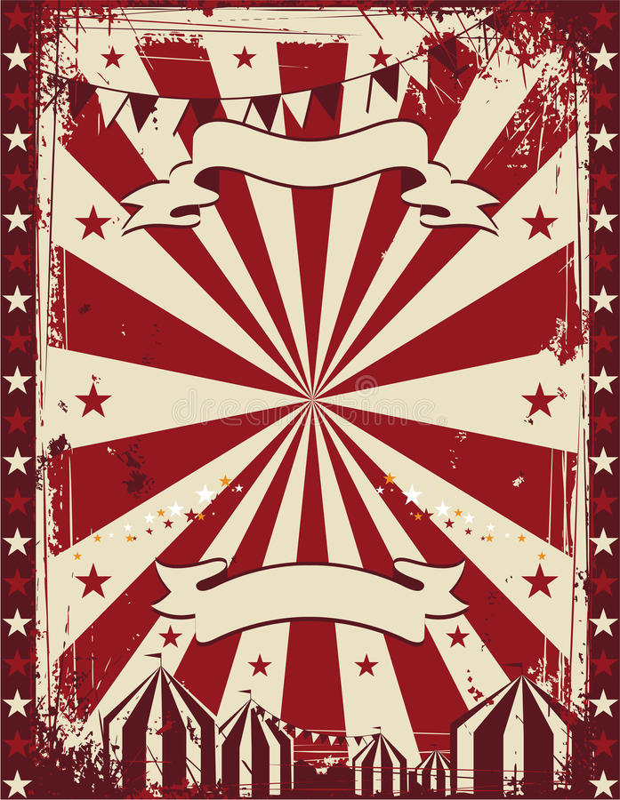 Vintage circus poster background advertising royalty free illustration