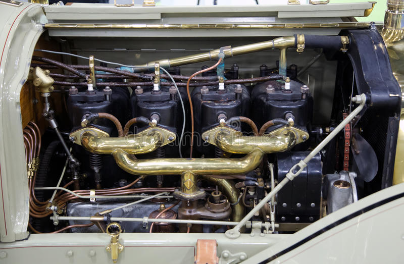 Vintage Classic Antique Car Engine Motor stock photos