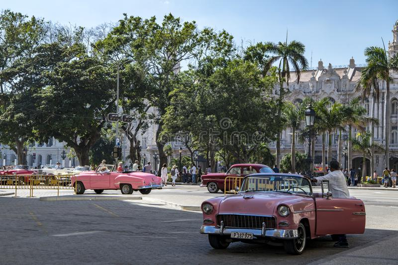 Classic cars in Havana, Cuba royalty free stock photo