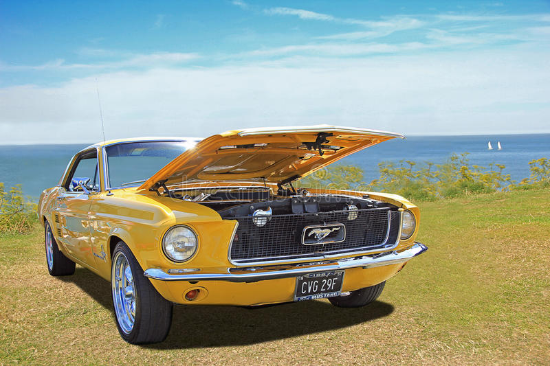 Vintage classic ford mustang stock photos