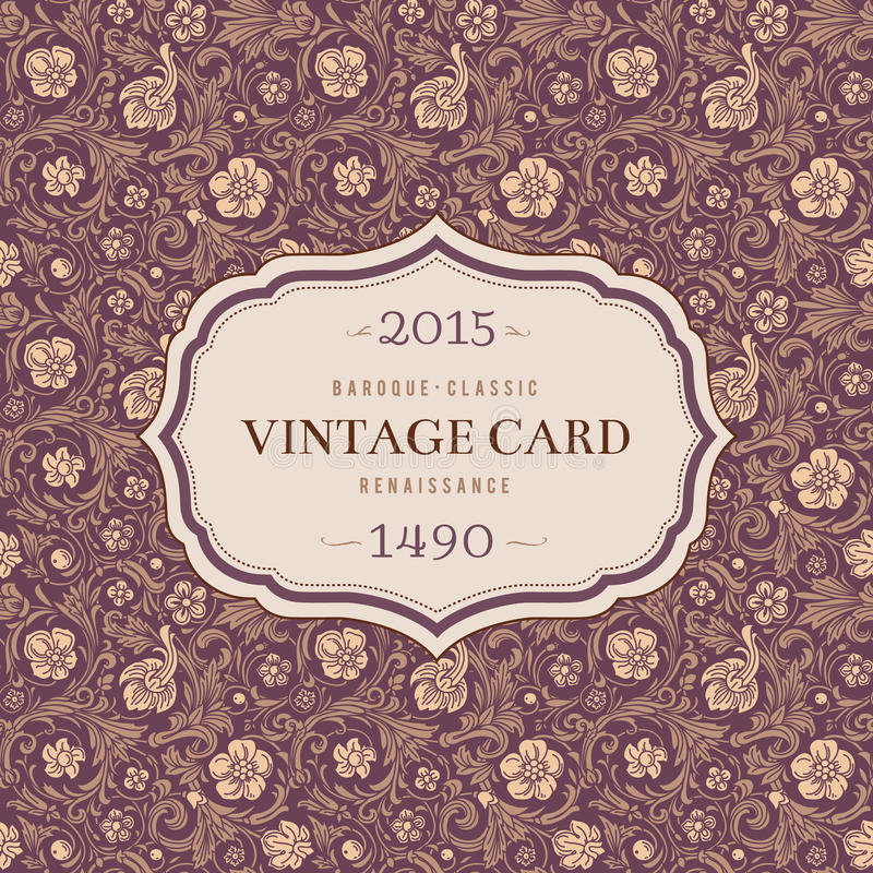 Download Vintage Classic Ornamental Seamless Vector Pattern Stock Vector - Image: 38576215
