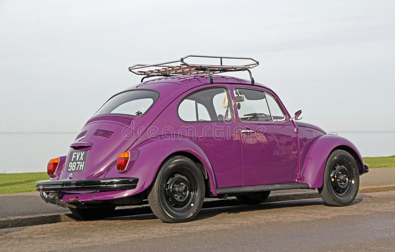 Vintage classic vw beetle royalty free stock photography