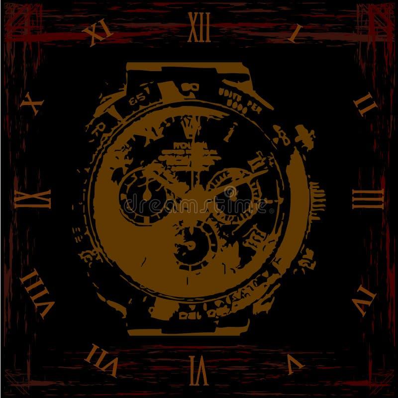 Vintage clock vector illustration