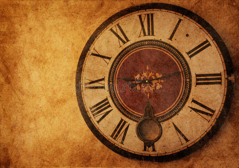 Download Vintage clock stock image. Image of dirty, dark, minutes - 21962513