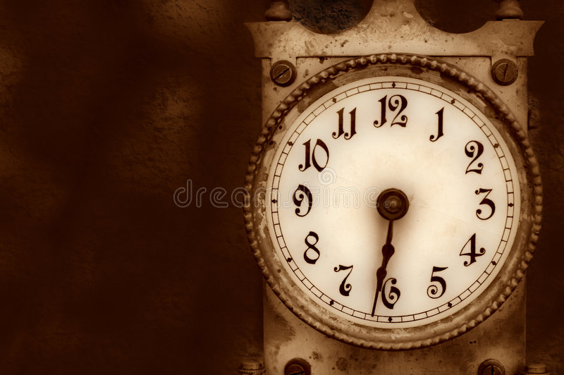 Download Vintage clock stock image. Image of foreground, moment - 7445115