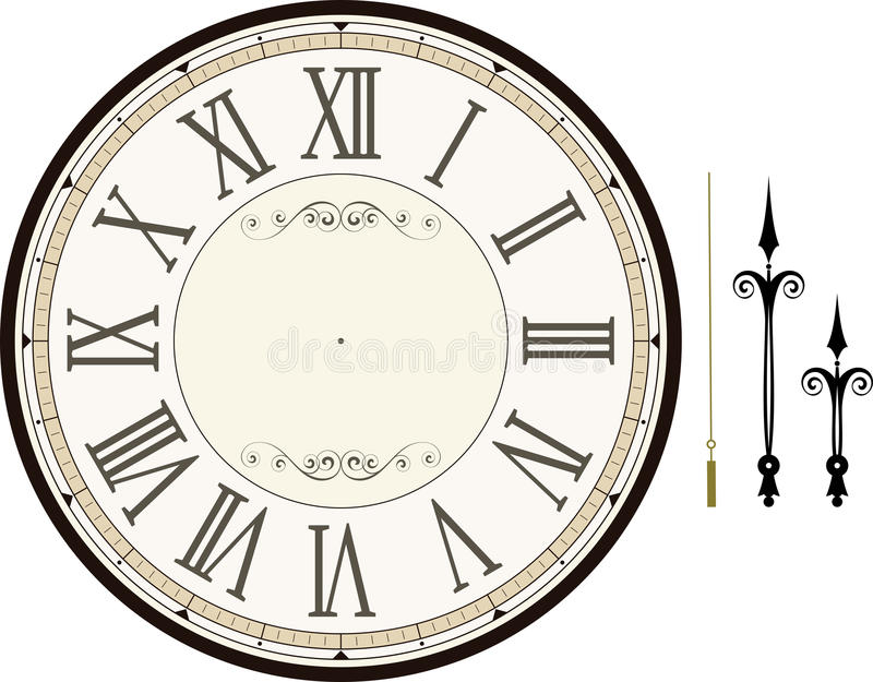 Vintage Clock Face Template Stock Vector  Illustration Of Hour