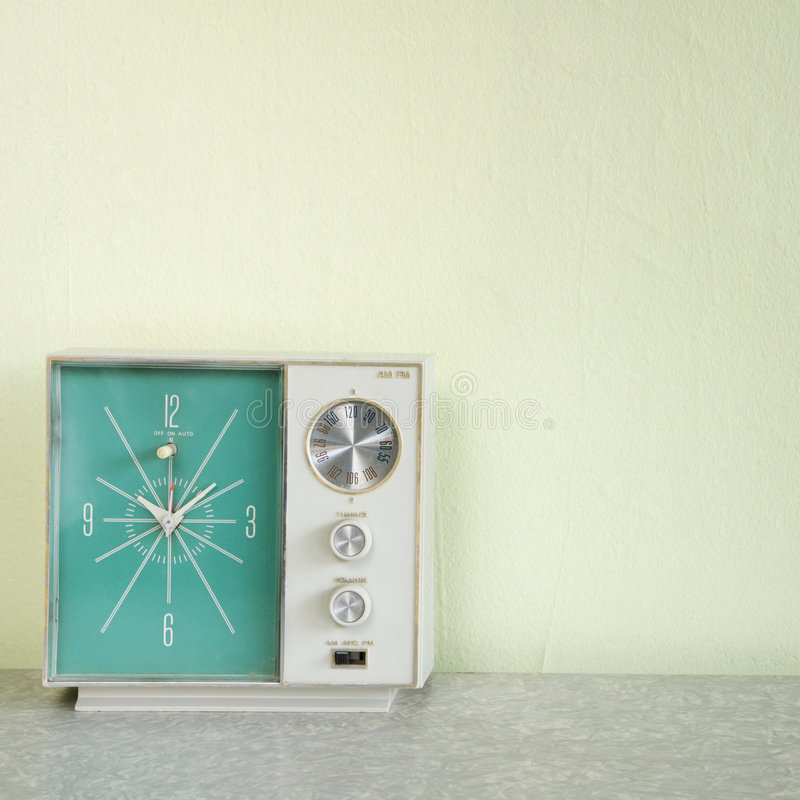 Download Vintage clock radio. stock photo. Image of indoors, life - 2425530