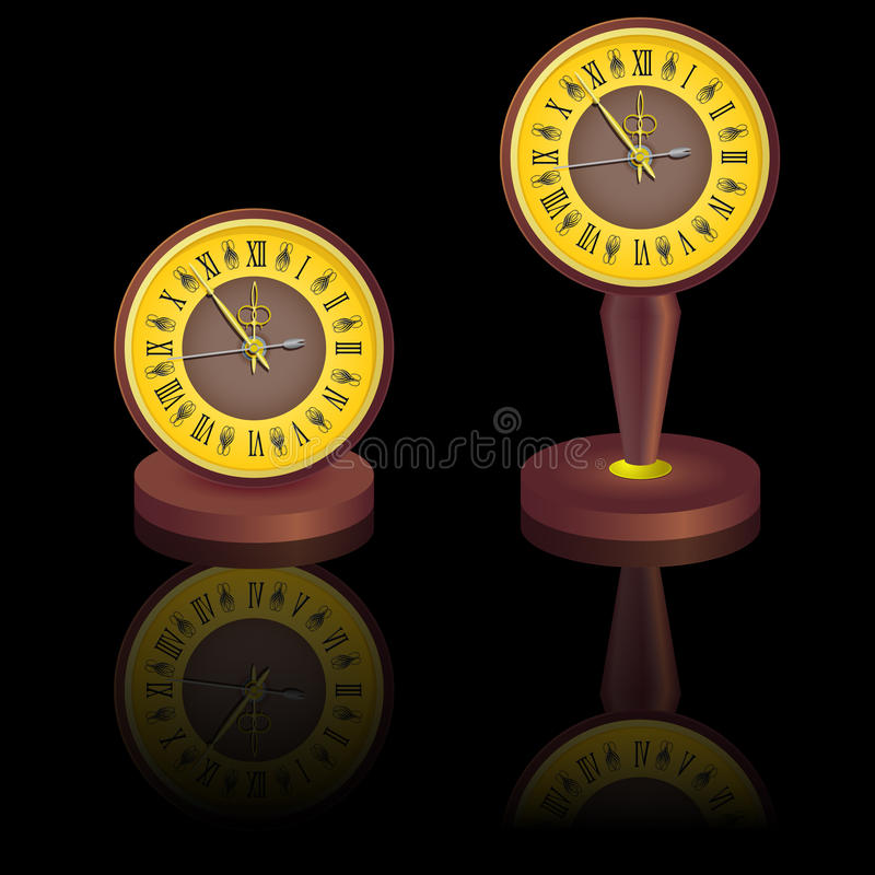 Download Vintage  Clock Shortly Before Midnight. Stock Vector - Illustration of symbol, minute: 22130384