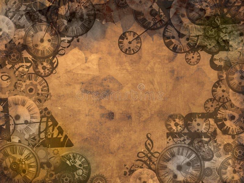 Download Vintage clocks background stock illustration. Illustration of machine - 24378579