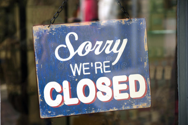 Vintage closed sign royalty free stock image