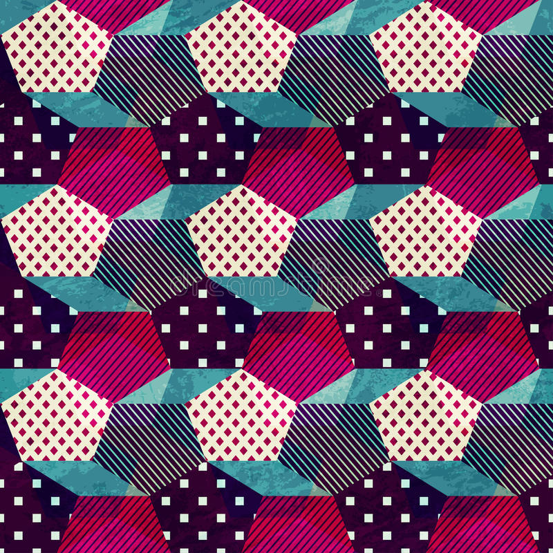 Vintage cloth seamless pattern vector illustration