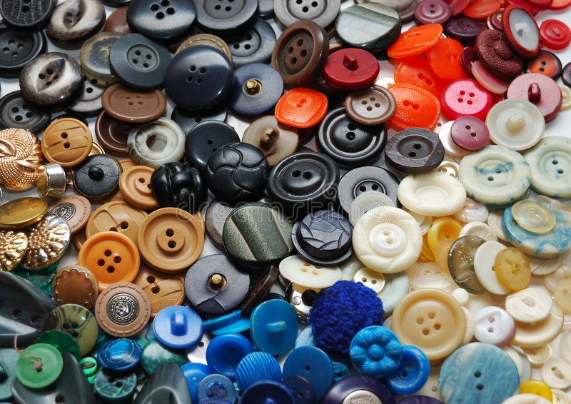 Vintage clothes buttons stock image