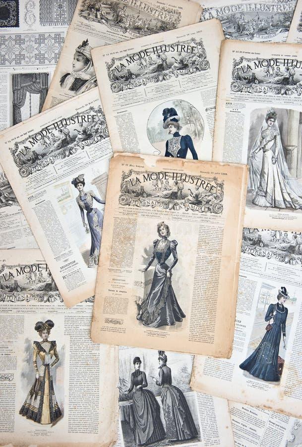 Vintage clothing. Nostalgic fashion background royalty free stock image