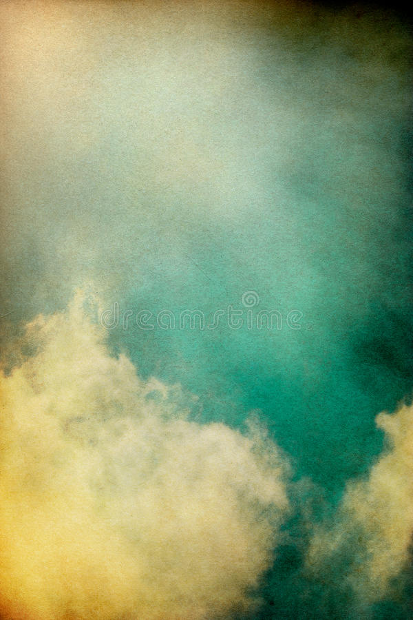 Vintage Cloudburst royalty free stock images