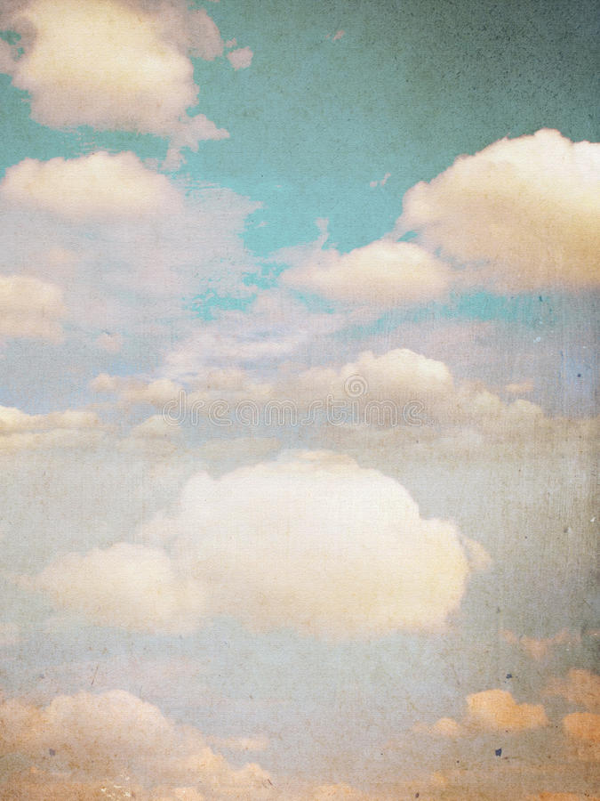 Free Vintage Clouds Royalty Free Stock Photo - 23317975
