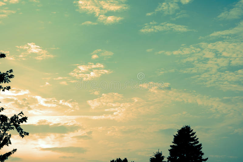 Vintage clouds stock images