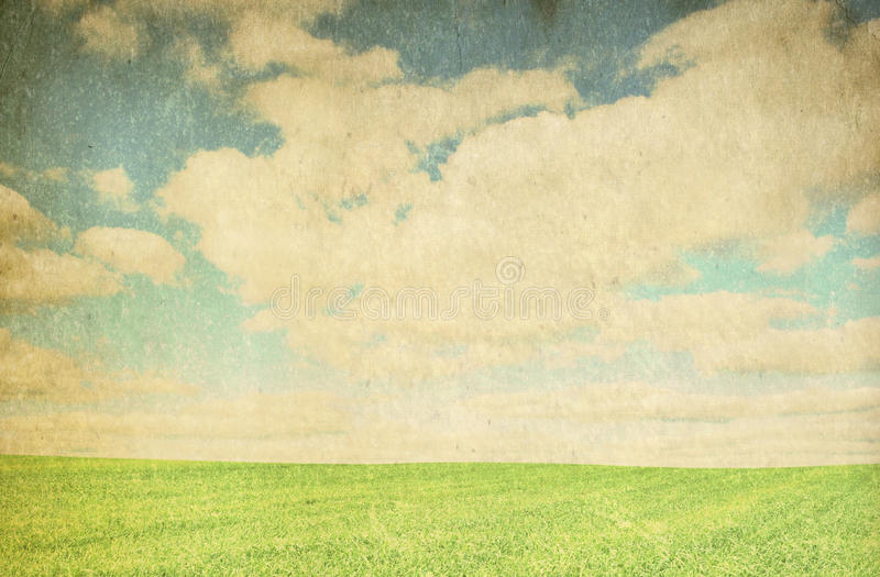 Vintage cloudy background royalty free stock photography