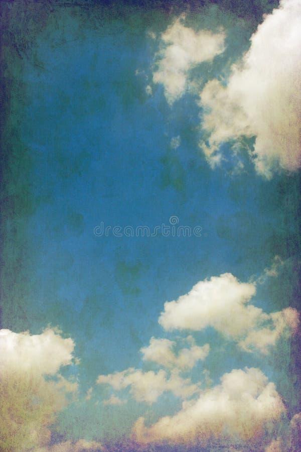 Download Vintage cloudy sky stock image. Image of vintage, composite - 20035373
