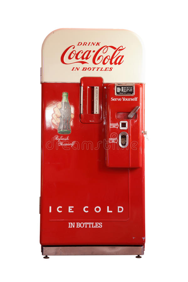 Free Vintage Coca-Cola Vending Machine Royalty Free Stock Photography - 30495447