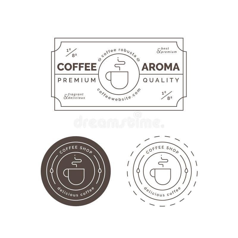 Premium coffee label and badge stock illustration