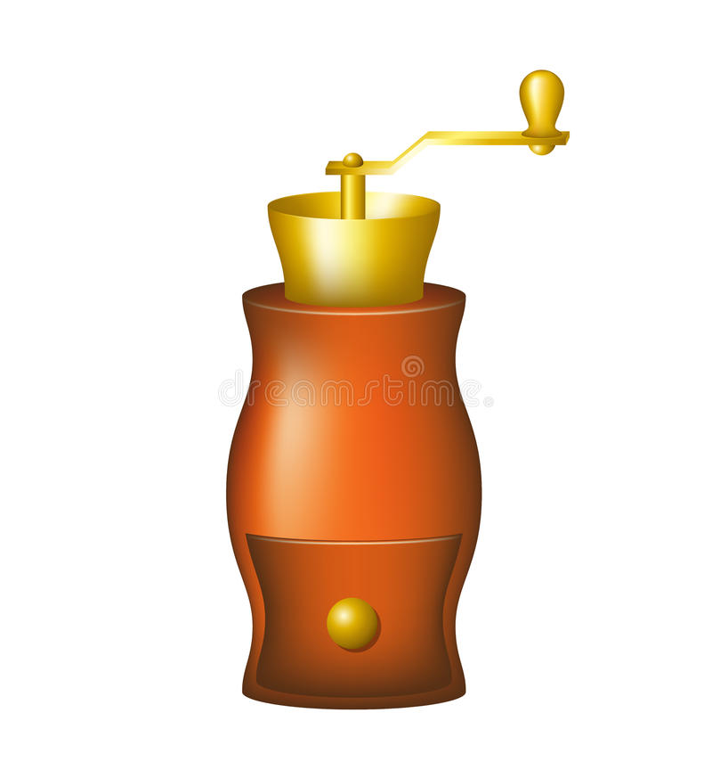 Download Vintage coffee mill stock vector. Image of espresso, coffeemaker - 25977134