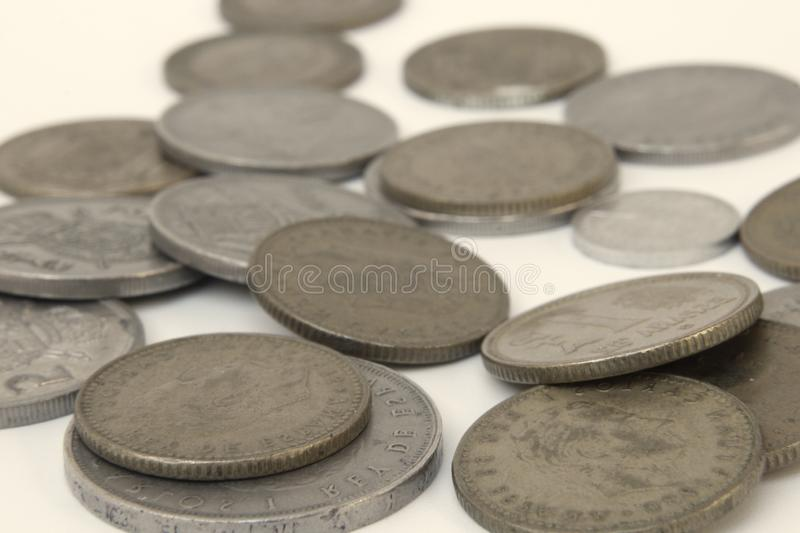 Vintage coins detail. Nice vintage coins photo detail royalty free stock images