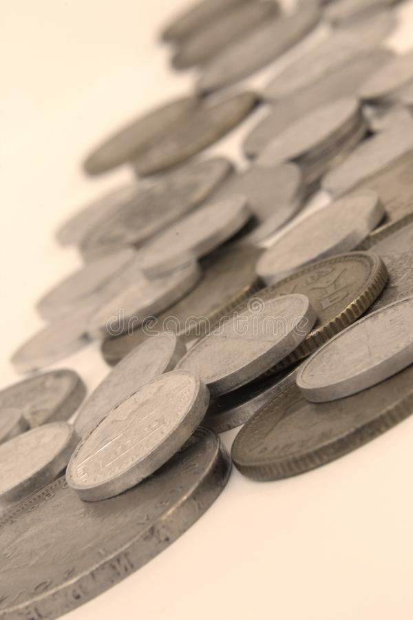 Vintage coins detail. Photo of vintage coins detail stock photo