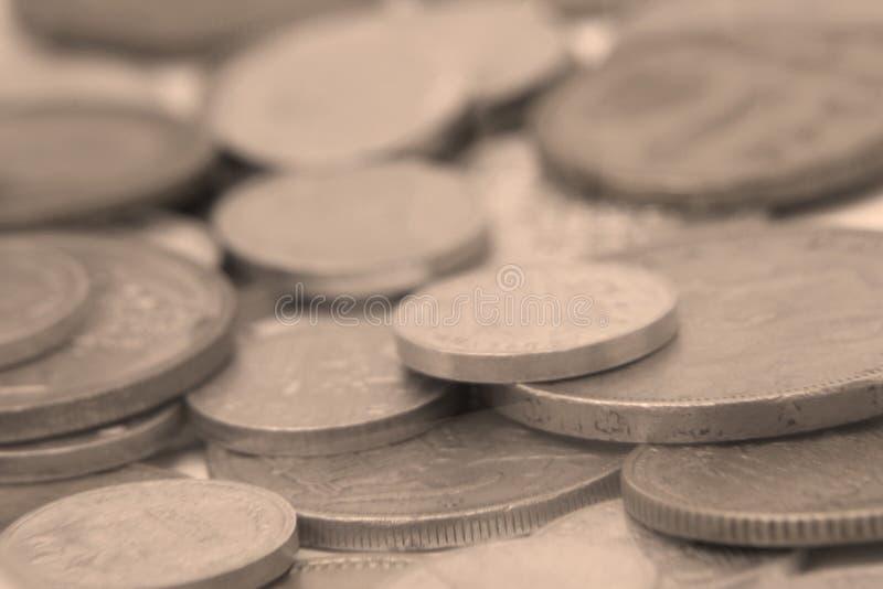 Vintage coins photo detail. Creative design of vintage coins photo detail stock photo