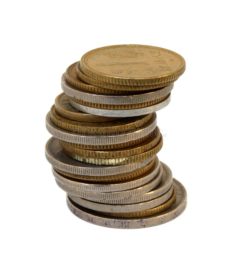 Vintage coins photo detail. Golden vintage coins photo detail stock photo