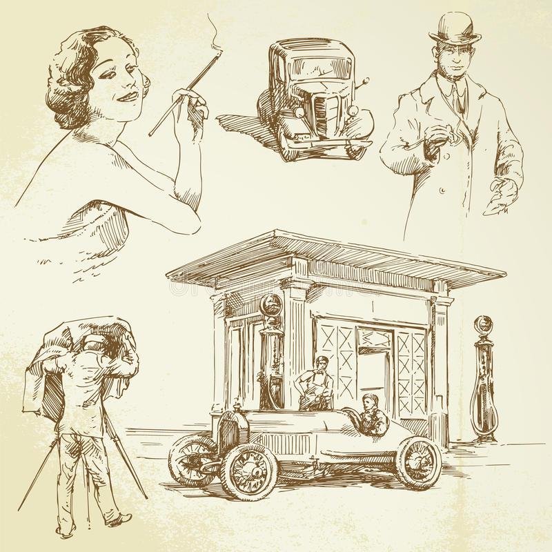 Vintage collection royalty free illustration