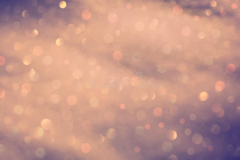 Vintage color blurred bokeh. Vintage color abstract blurred winter bokeh light background stock photos