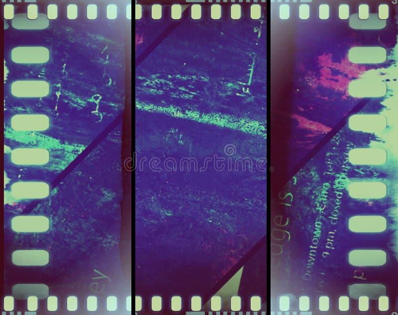 vintage coloreado del grunge de la película de la sepia de la bandera foto de archivo libre de regalías