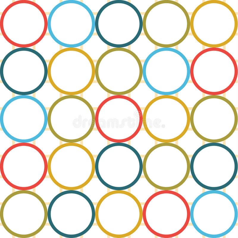 Vintage colored circle seamless texture vector illustration