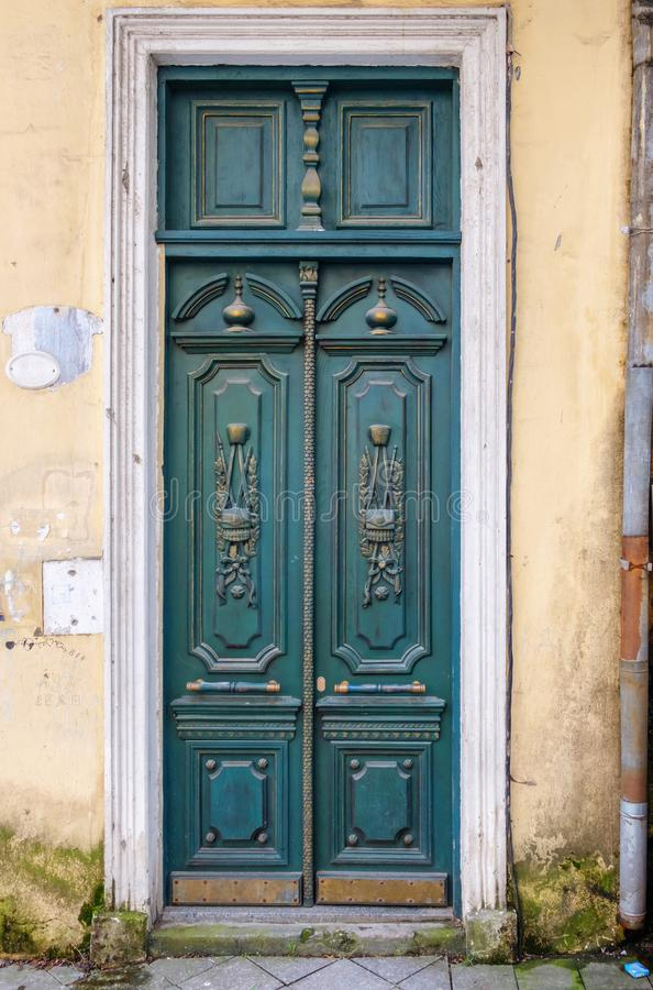 Vintage colored wooden door royalty free stock photography